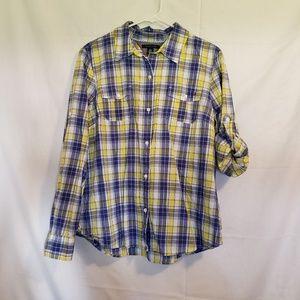 Tommy Hilfiger plaid casual shirt Size XL